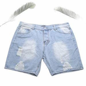 Boohoo Light Blue Love is Love Denim Shorts XXL